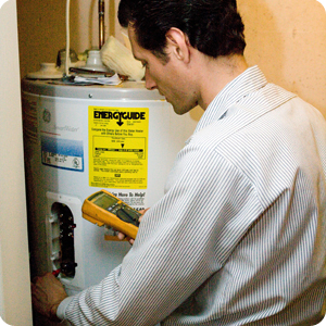 Joe Testing Water Heater